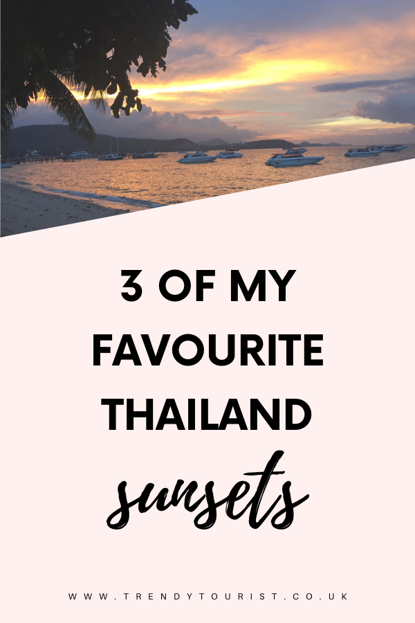 3 of My Favourite Thailand Sunsets