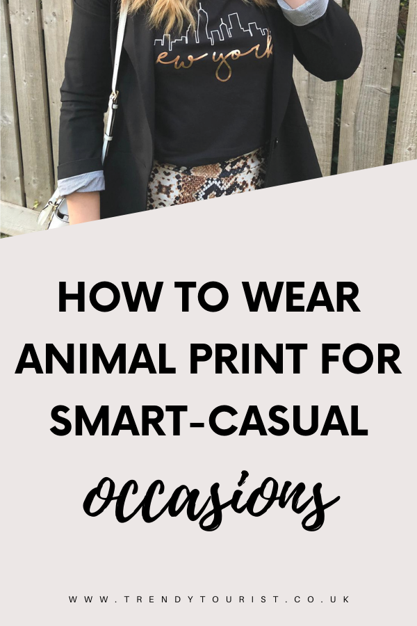 How to Wear Animal Print for Smart-Casual Occasions