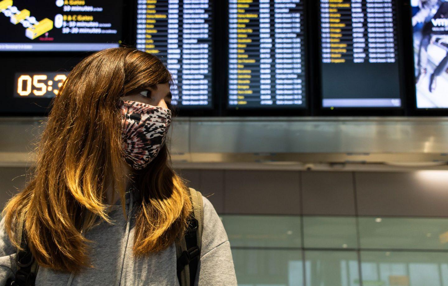 Face Mask in the Airport