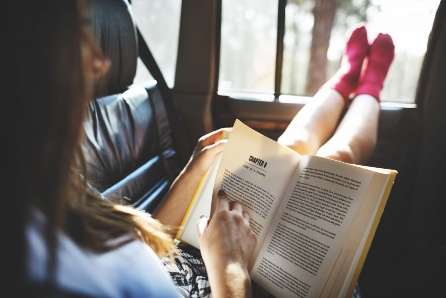 Reading During a Car Journey